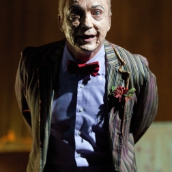 """LOS ANGELES, CA - JUNE 2: Udo Kier on the set of the motion picture """"Theater Bizarre"""" held at The Million Dollar Theater on June 2, 2011 in Downtown Los Angeles, California. (Photo by Albert L. Ortega)"""